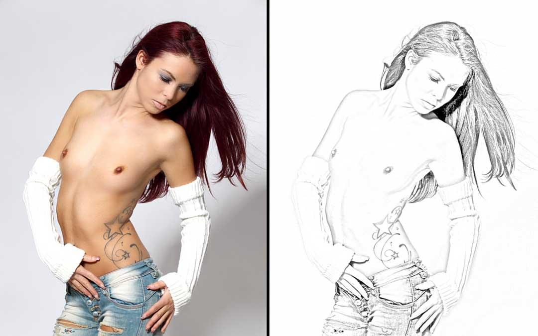 Bleistiftzeichnung mit Photoshop