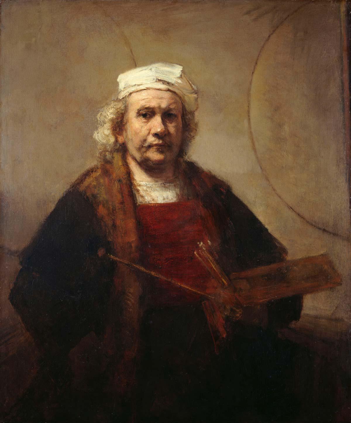Rembrandt creator QS:P170,Q5598, Rembrandt Self-portrait (Kenwood), als gemeinfrei gekennzeichnet, Details auf Wikimedia Commons